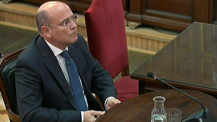 """El Coronel Pérez de los Cobos en el juicio al """"procés"""". EFE"""