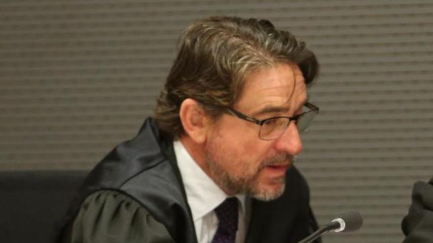 El magistrado Salvador Alba en el juicio por el caso Calero (Alajandro Ramos)