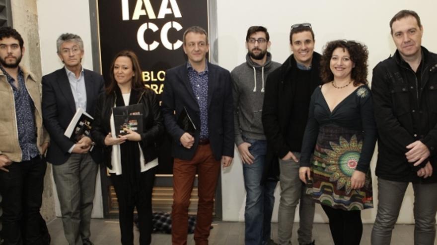 La consejera de Cultura, Mayte Pérez, tercera por la izquierda.