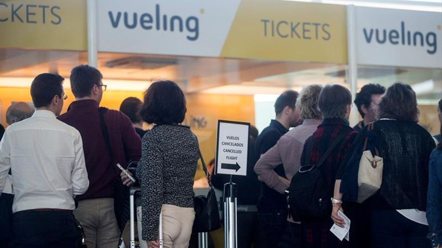 Vueling dice que 86 % de sus clientes no estarán afectados por la huelga de pilotos