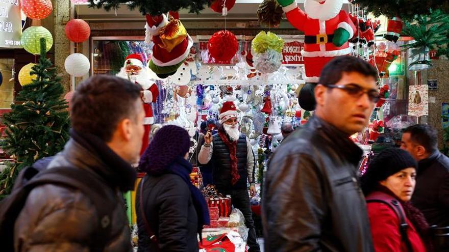 Papá Noel resiste en Estambul la islamización de Turquía