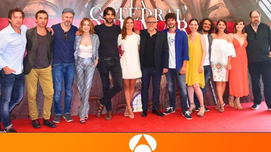 Antena 3 presenta la costosa 'Catedral del mar': 'Es un orgullo poder sacarla adelante'