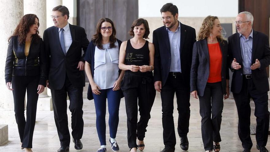 Alicia Andújar (UPyD), Ximo Puig y Mónica Oltra.