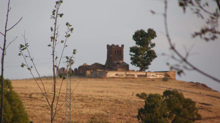 Mina de San Salvador en Cáceres vista desde la mina Abundancia