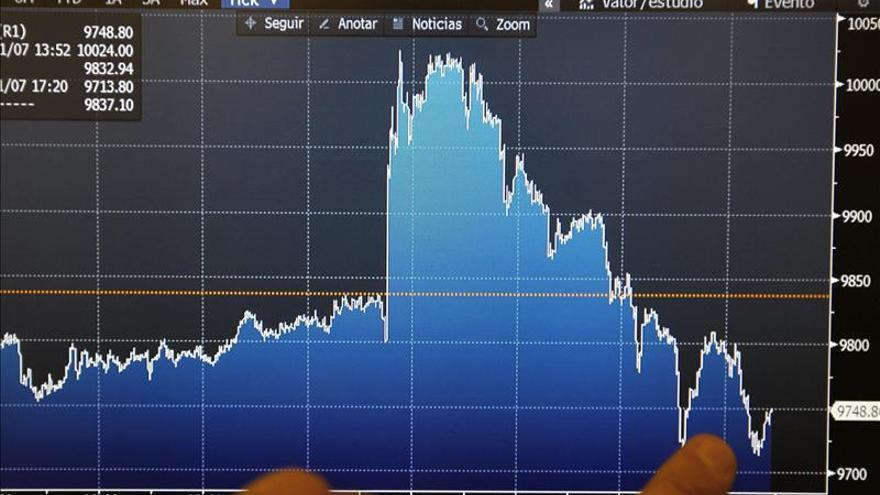 La bolsa española abre con un alza del 0,99 por ciento y recupera los 9.700 puntos