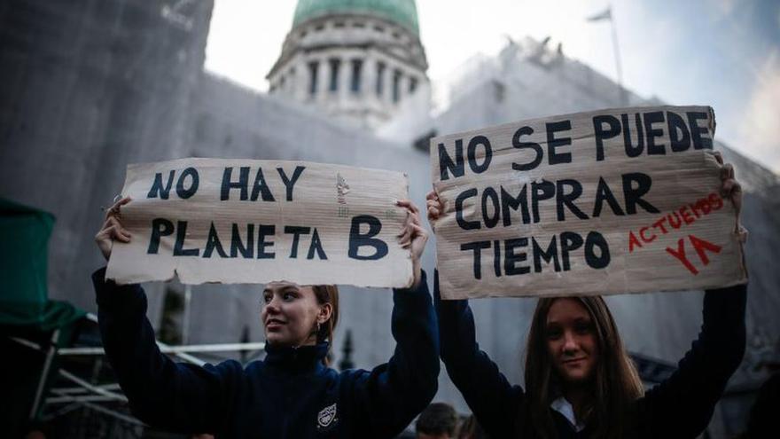Miles de personas participaron de las anteriores marchas por el clima en Buenos Aires. La foto en la edición de 2019.