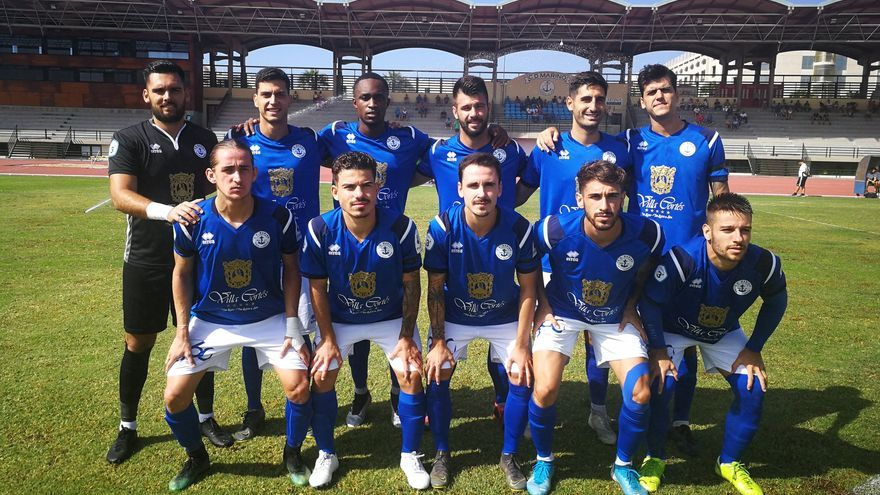 Formación que presentó el equipo de Quico de Diego frente al Unión Güímar