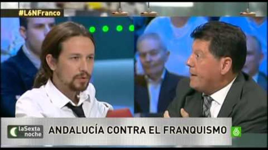 Pablo Iglesias y Alfonso Rojo en la Sexta