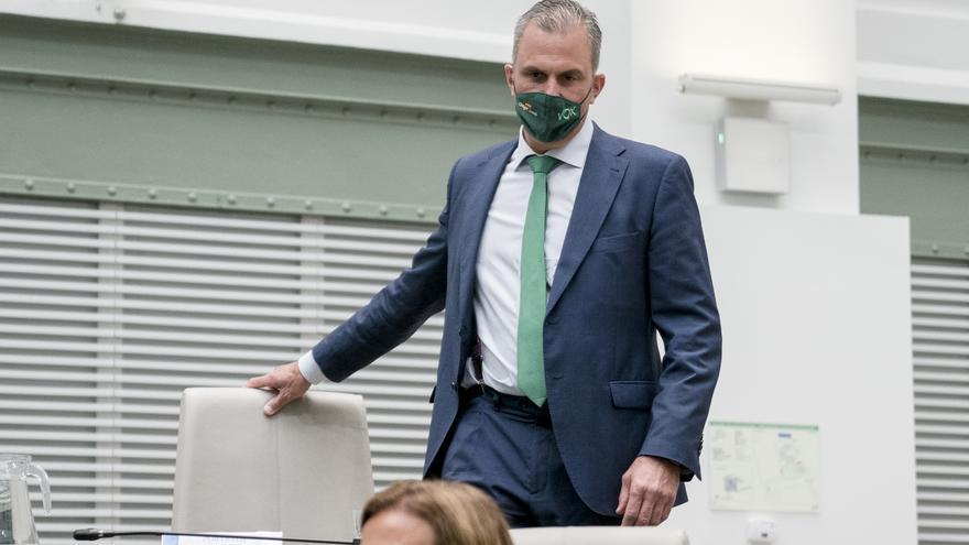 El secretario general de Vox, Javier Ortega Smith, en el Pleno del Ayuntamiento de Madrid
