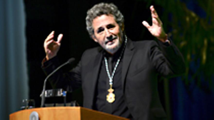 Miguel Ríos en su discurso del 28F