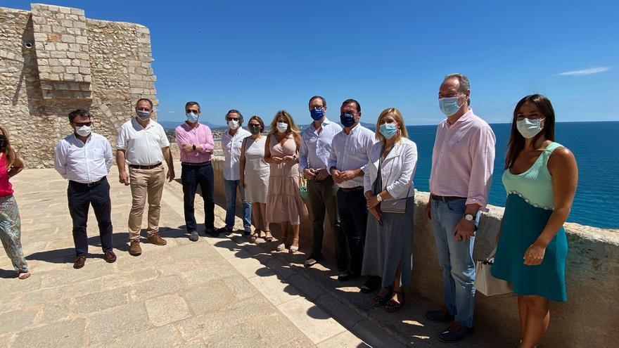 Visita del portavoz del PP en el Senado, Javier Maroto, a Peñíscola