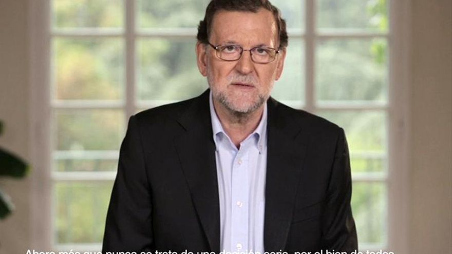 La Junta Electoral avala el vídeo de precampaña de Rajoy denunciado por el PSOE