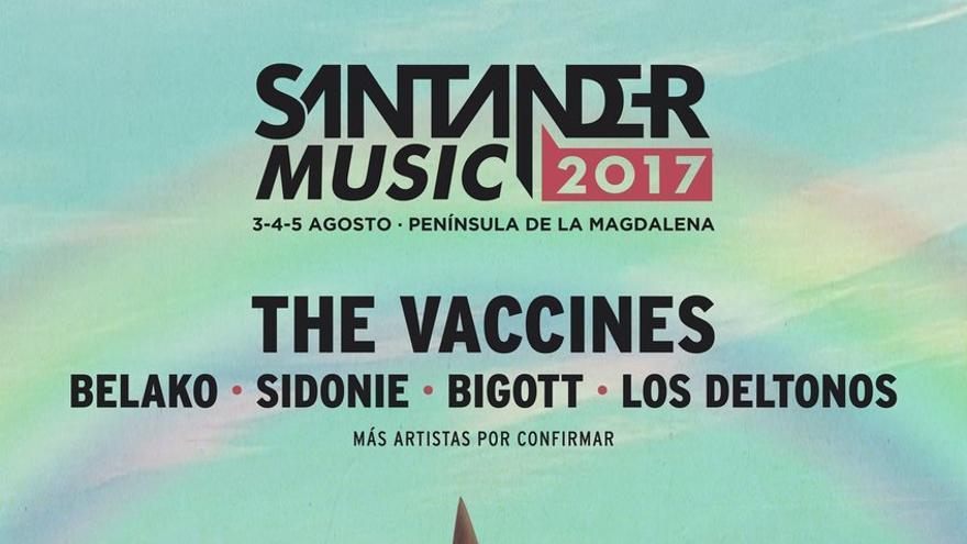 Cartel del Festival Santander Music 2017.