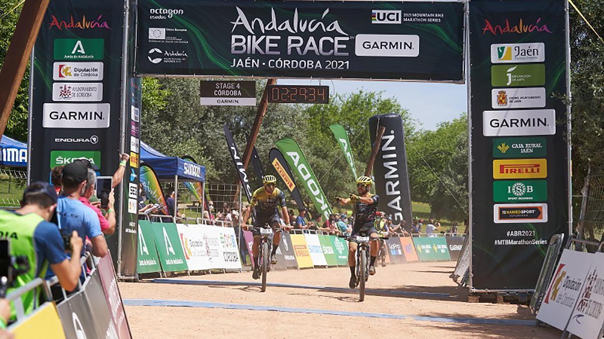 Ganadores de la cuarta etapa de la Andalucía Bike Race