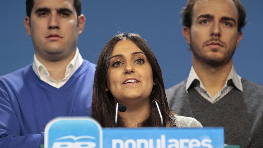La presidenta de las Nuevas Generaciones del PP, Beatriz Jurado, durante una rueda de prensa / Foto: Flicker Partido Popular