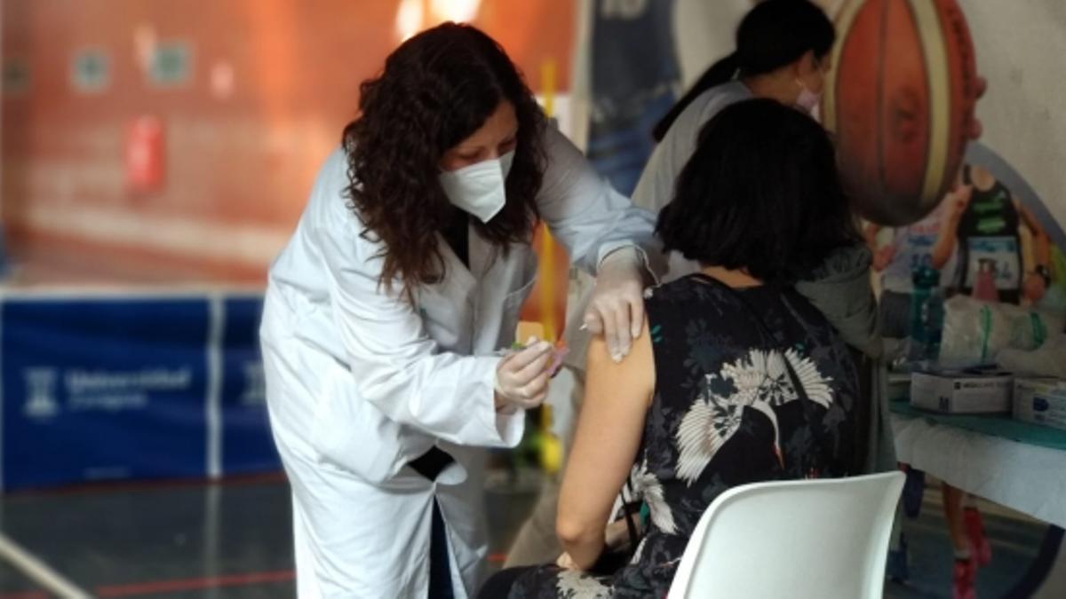 Vacunación con Janssen en Zaragoza.
