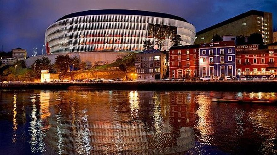 El estadio de San Mámes, donde juega el Athletic de Bilbao.