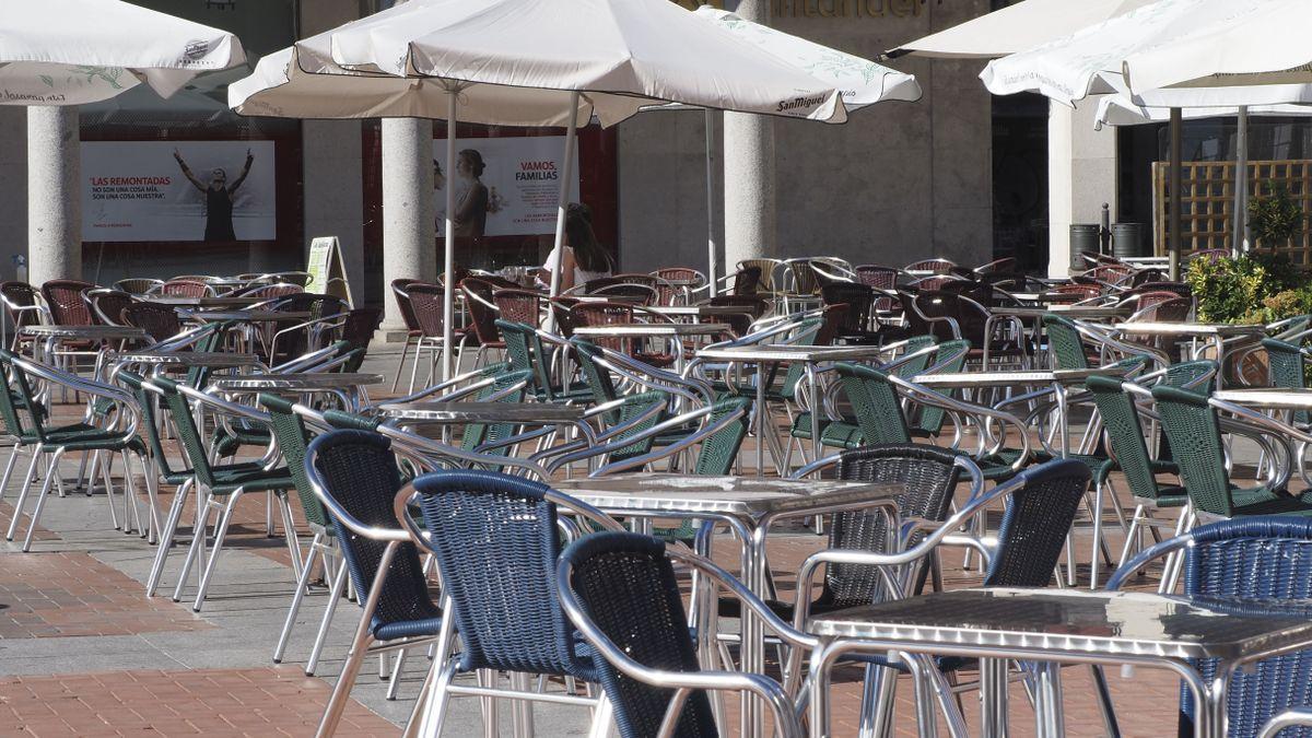 Terrazas y bares en la Plaza Mayor de Valladolid