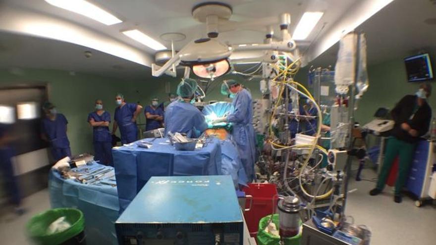 Operación cardiaca en el Hospital Virgen de la Arrixaca en Murcia