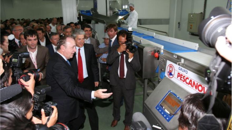 Fernández de Sousa y José Sócrates, en la inauguración de la planta de Mira en junio de 2009