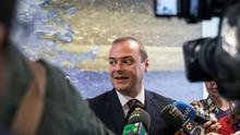 El alcalde de Las Palmas de Gran Canaria, Augusto Hidalgo, tras el Consejo de Administración de Emalsa. EFE/Ángel Medina G.