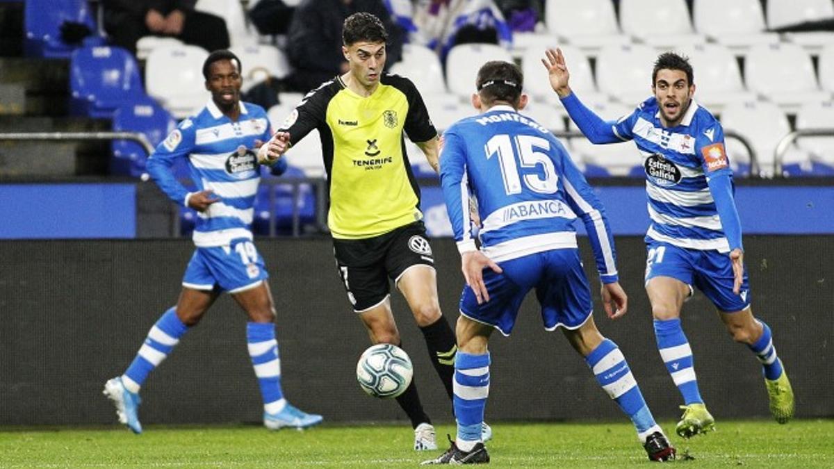 José Naranjo en un partido frente al Deportivo de La Coruña