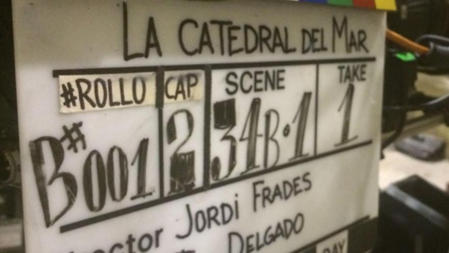 Imagen del rodaje de 'La catedral del mar'