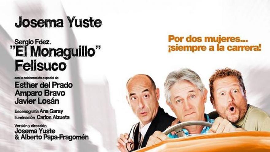 Los actores Félix Álvarez, Josema Yuste y Sergio Fernández.