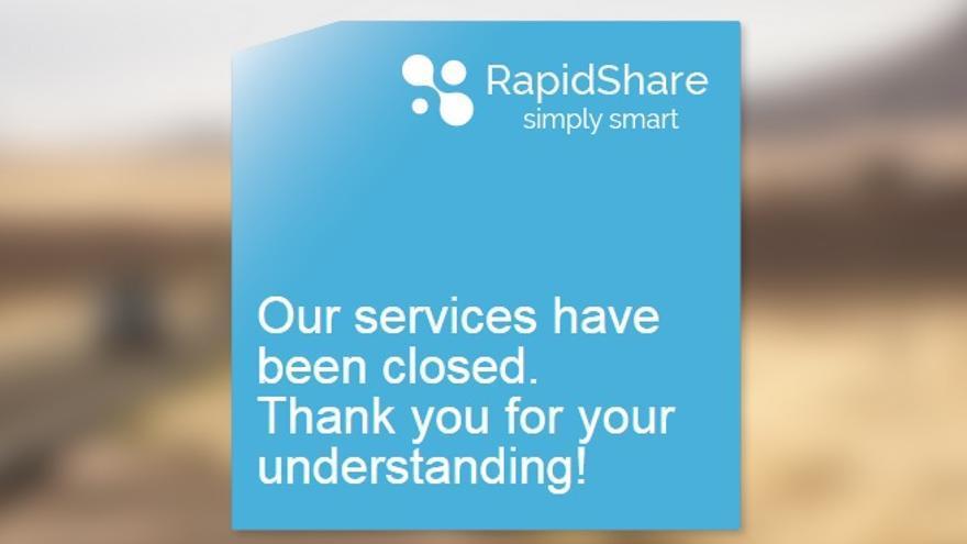 Después de 10 años de actividad, RapidShare anunció su cierre sin dar explicaciones