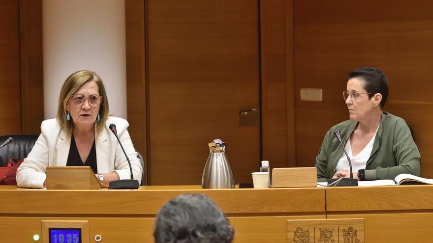 La fiscal delegada de violencia sobre las mujeres de Valencia, Rosa Guiralt, en su intervención en el Parlamento autonómico.