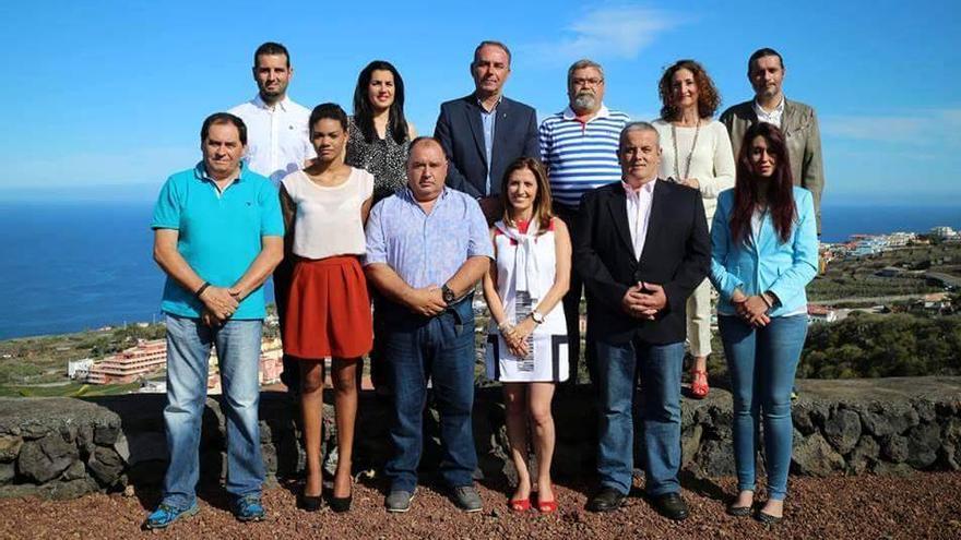 En la imagen, miembros de la lista del PSOE al Ayuntamiento de Breña Baja.