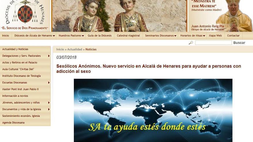 Página web del obispado de Alcalá de Henares