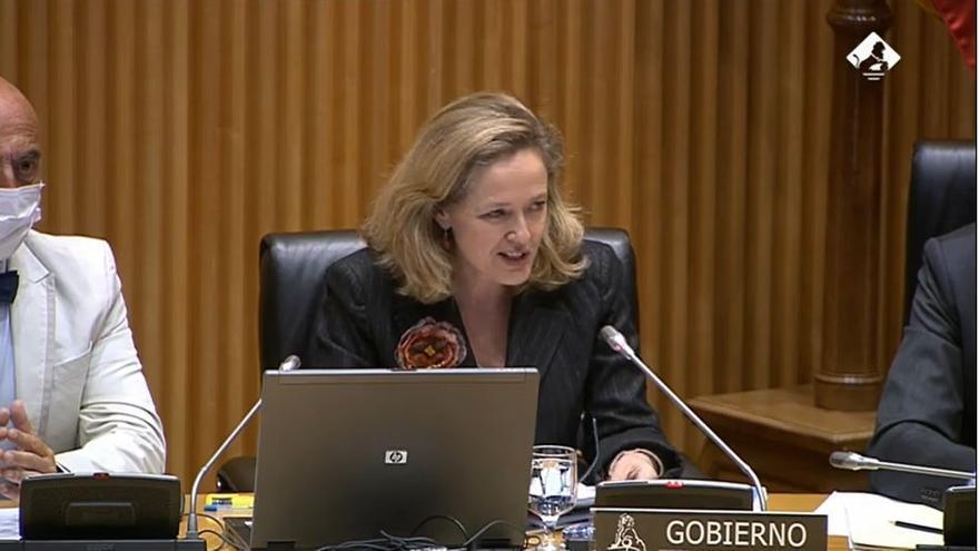 La vicepresidenta Nadia Calviño