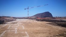 Obras en La Tejita para la construcción de un gran hotel.