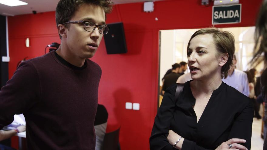 Íñigo Errejón y Tania Sánchez, en una reunión del Consejo Ciudadano de Madrid en abril de 2017.