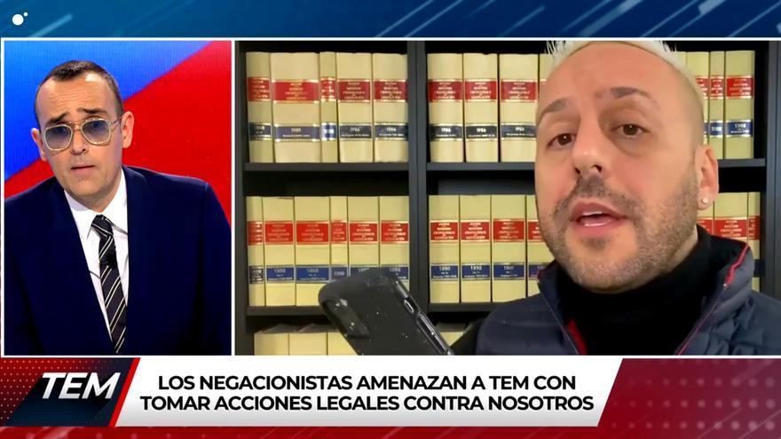 Risto Mejide y el abogado que dice representar a la joven negacionista