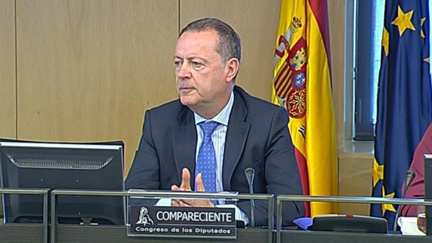 Cecilio Gómez Comino, director general de Seguridad, Organización y Recursos Humanos de Renfe cuando el accidente