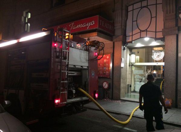 Intervención de los bomberos en el incendio del CBA | Fotografía: Emergencias Madrid