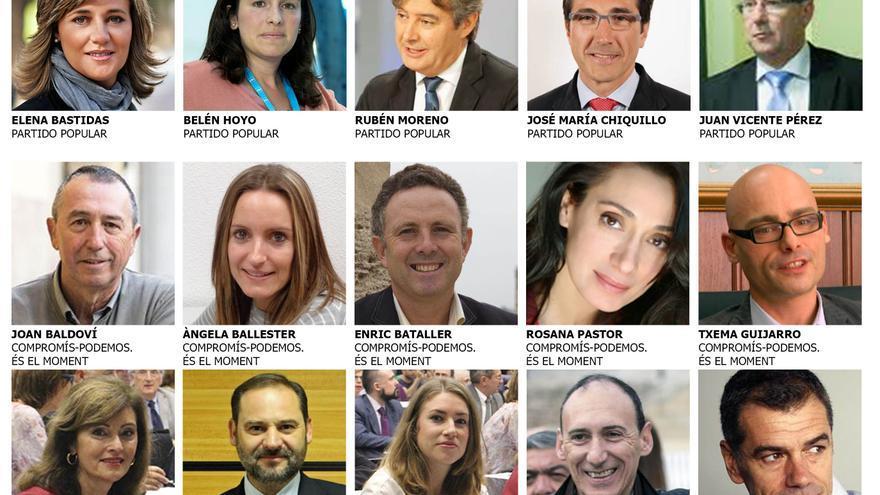 Los 15 diputados en el Congreso por la provincia de Valencia
