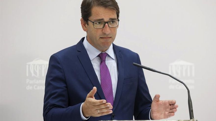 El portavoz del grupo parlamentario Socialista, Ignacio Lavandera
