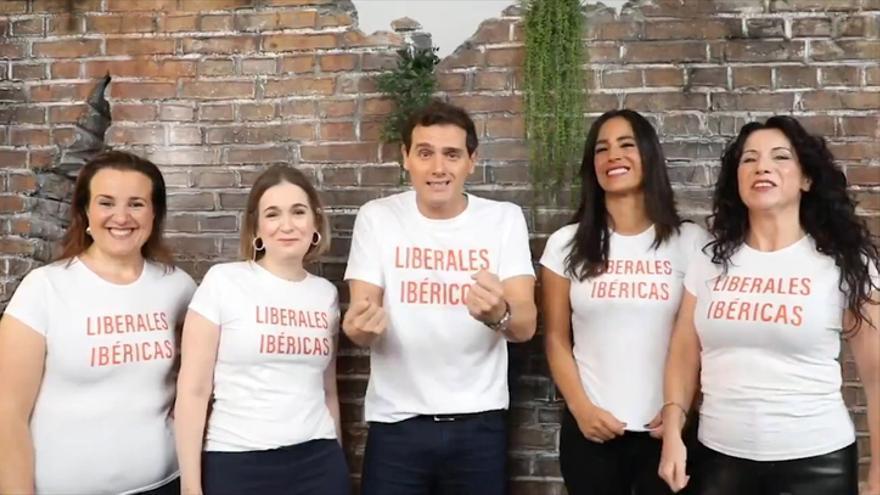 Una imagen del vídeo sobre los 'liberales ibéricos' difundida por Ciudadanos antes del 10N