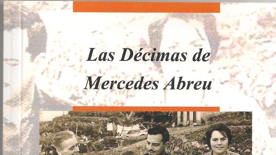 Portada del libro de las décimas de Mercedes Abreu.