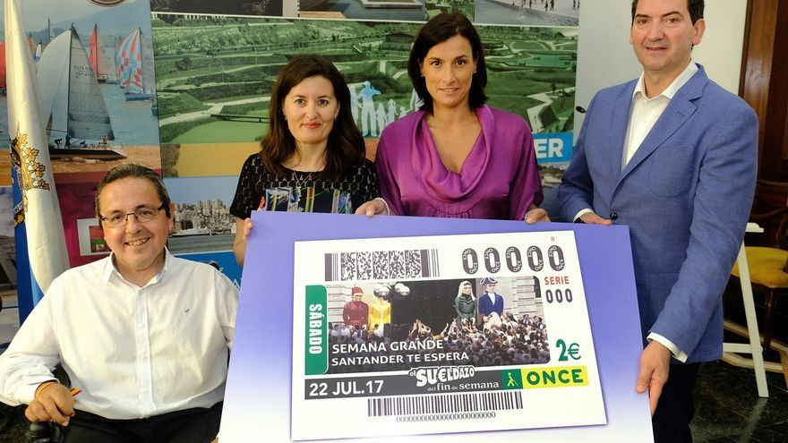 El cupón de la ONCE del sábado estará dedicado a la Semana Grande de Santander