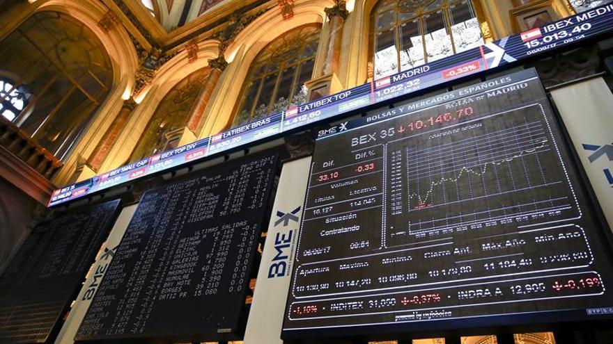 Los bancos animan al IBEX 35 que sube un 0,26 % y se afianza en 10.300 puntos