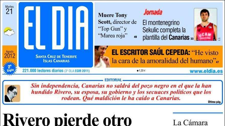 De las portadas del día (21/08/2012) #4