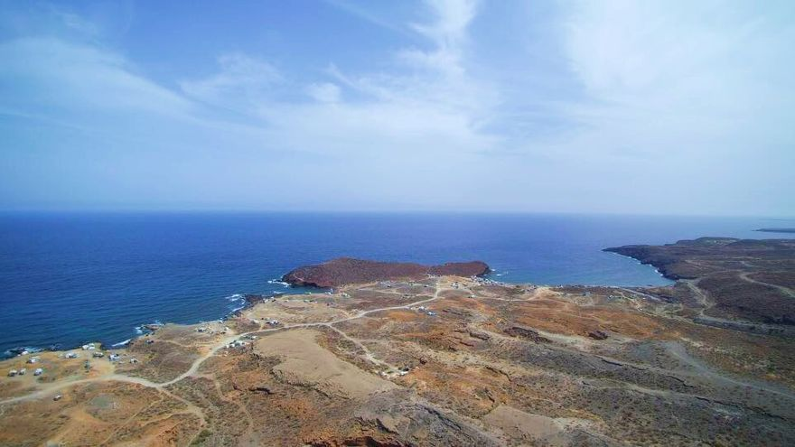 Foto tomada por el dron de David sobre el litoral de Abades