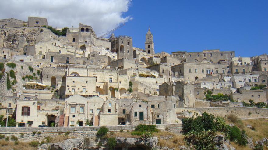 Vista de los sassi de Matera.