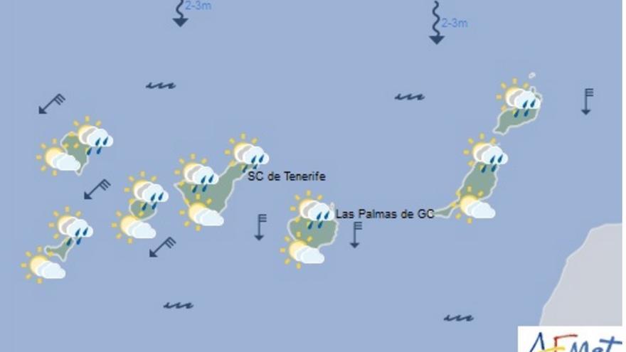 Mapa del tiempo de la Aemet para este jueves, 24 de marzo de 2016.