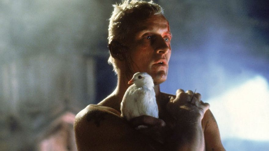Rutger Hauer en el papel del replicante Roy Batty en Blade Runner