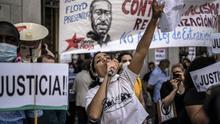 Manifestación en memoria de George Floyd en Madrid.